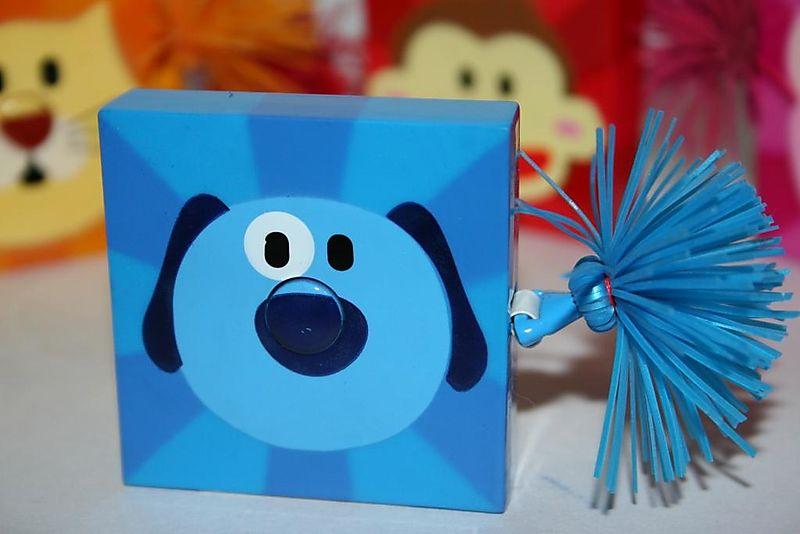 Blue dog tape measure