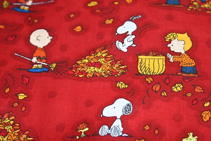 Charlie brown fall fabric
