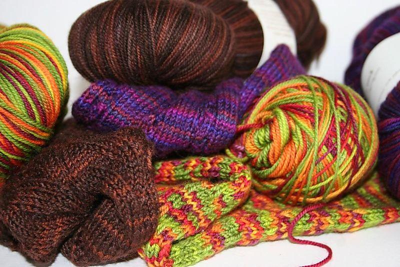 Hazel knits camoflauge