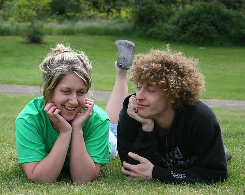 Whitney and brandon in grass 3