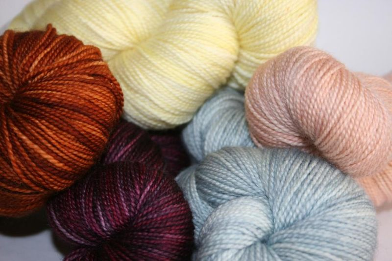 Mix of new madtosh colors - post