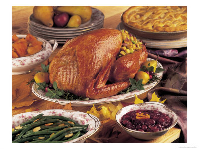 306610~Thanksgiving-Dinner-with-Turkey-and-Pie-Posters