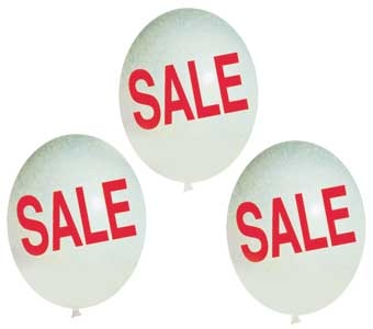 Sale Balloons White