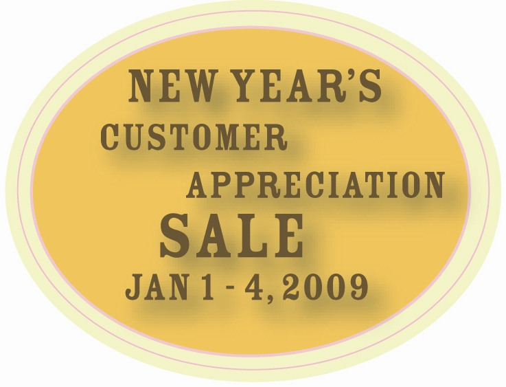 New Year Sale Button