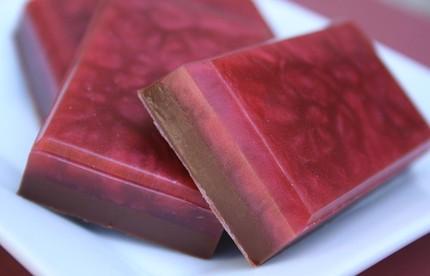 Chocolate raspberry soap